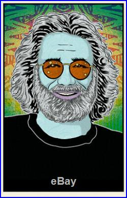 Chuck Sperry Jerry Garcia Built to Last Winter Grateful Dead S/#500 Poster Print