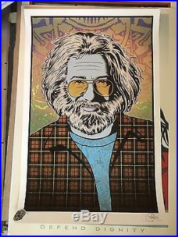 Chuck Sperry Jerry Garcia Tangled Up In Blue Signed Art Print Grateful Dead
