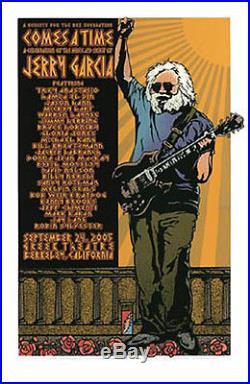 Comes A Time Jerry Garcia Memorial Silkscreen Poster