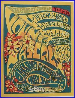Concert Handbill Grateful Dead, Rascals, Country Joe, Grass Roots. Oakland 1967