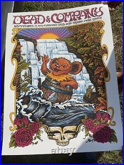DEAD AND COMPANY POSTER Blossom Music Center -CUYAHOGA FALLS Ohio 9/7