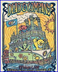 DEAD AND COMPANY POSTER RIVERBEND Music Center -CINN Ohio 9/11