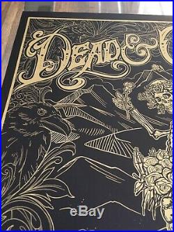 DEAD And COMPANY 2019 Summer Tour Poster Wrigley Field Chicago Black & Gold