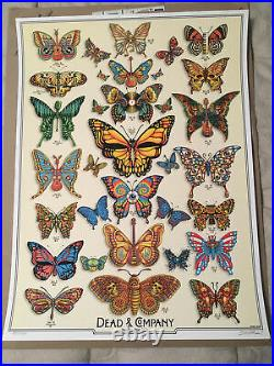 DEAD & COMPANY 2019 Summer Tour Poster VIP EMEK Print Butterfly Grateful Dead