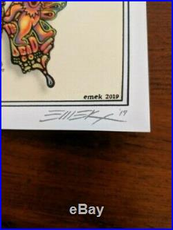 DEAD & COMPANY 2019 VIP Summer Tour BUTTERFLY Poster AND Ticket signed, numbered