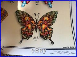 DEAD & COMPANY 2019 VIP Summer Tour Butterfly Poster. Numbered and Signed