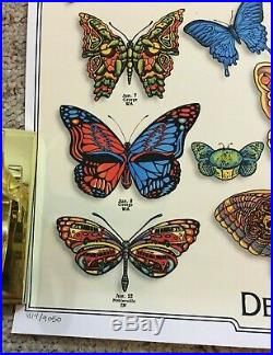 DEAD & COMPANY 2019 VIP Summer Tour Butterfly Poster Numbered and Signed