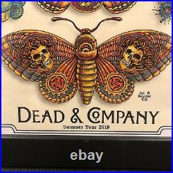 DEAD & COMPANY POSTER 2019 Concert Tour EMEK Print Butterfly