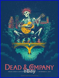 DEAD & COMPANY POSTER AUSTIN TX 12/2 GRATEFUL DEAD SIGNED AP FALL TOUR and
