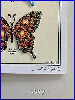 DEAD & COMPANY poster 2019 Concert VIP Tour EMEK Print Butterfly #3556