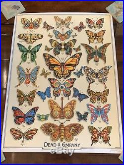 DEAD & COMPANY poster 2019 Concert VIP Tour EMEK Print Butterfly Grateful Dead