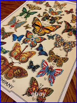 DEAD & COMPANY poster 2019 Concert VIP Tour EMEK Print Butterfly Low # 90
