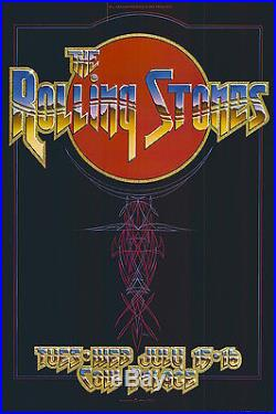 DEAD MINT Rolling Stones 1975 AOR 4.41 Cow Palace Bill Graham Poster