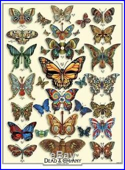 DEAD and COMPANY 2019 VIP Summer Tour BUTTERFLY Poster Signed by Artist