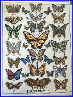 DEAD and COMPANY 2019 VIP Summer Tour BUTTERFLY Poster Signed by Artist AWESOME
