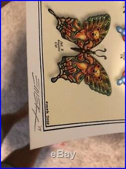DEAD and COMPANY 2019 VIP Summer Tour BUTTERFLY Poster Signed by Artist LIMITED