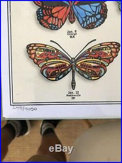 DEAD and COMPANY 2019 VIP Summer Tour BUTTERFLY Poster Signed by