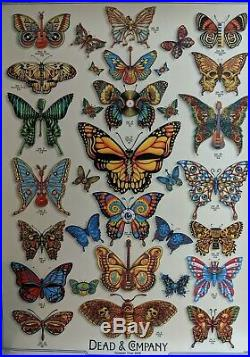 DEAD and COMPANY 2019 VIP Summer Tour BUTTERFLY Poster Signed by EMEK Numbered