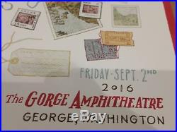 Dave Matthews Band Poster Print Gorge 2016 Landland Eads Tim Reynolds 2017 SPAC
