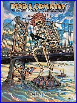 Dead And COMPANY Philadelphia Citizens Bank 8/21/21Print Poster Zeb Love