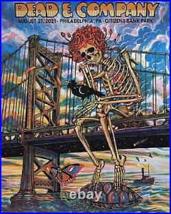 Dead And COMPANY Philadelphia Citizens Bank 8/21/21Print Poster Zeb Love AP /120