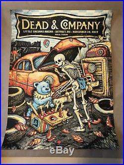 Dead And Company 11/24/2017 Detroit, MI Zeb Love AP S/N XX/50 Poster Grateful
