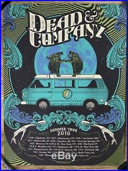 Dead And Company 2016 Summer Tour Poster Justin Helton Hand Numbered 4682/5000