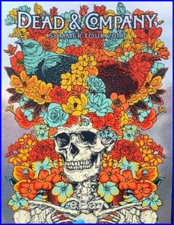 Dead And & Company 2018 Summer Tour VIP Official Sparkle Foil Poster Signed AP