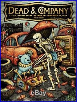 Dead And Company AP 2017 Detroit Poster Zeb Love John Mayer & Bob Weir Grateful
