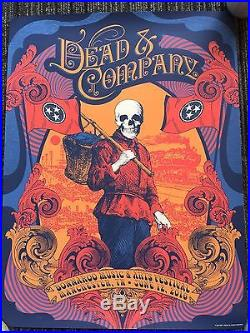 Dead And Company Bonnaroo Limited Edition Poster WithSetList And
