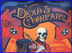 Dead And Company Bonnaroo Limited Edition Poster WithSetList And Artist Bracelet