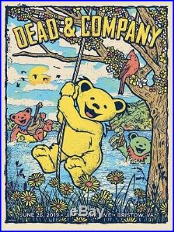Dead And Company Bristow Virginia June 26, 2019 Official Show Poster & Grateful