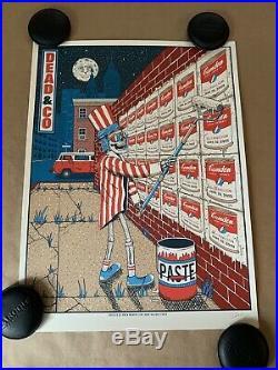 Dead And Company Camden 2019 Art Print Poster Grateful Owen Murphy XX/700 Warhol