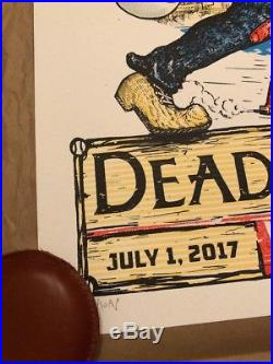 Dead & And Company Chicago Wrigley Field Concert Poster S/N A/P X/50 2017