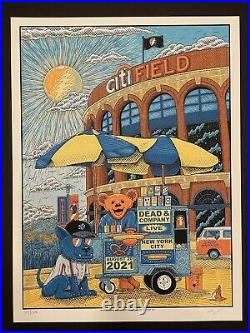 Dead And Company Citi Field 2021 Poster Limited Limited Out Of 1117/1370 Mets