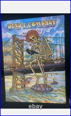 Dead And Company Citizens Bank Park Philadelphia Summer Tour 2021 Tour Poster
