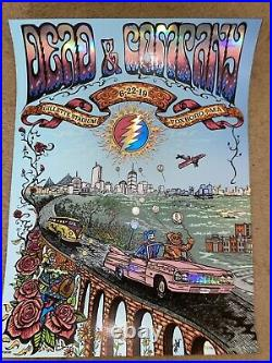 Dead And Company Concert Poster 2019 Foxboro MA Signed By Artist Mike DuBois