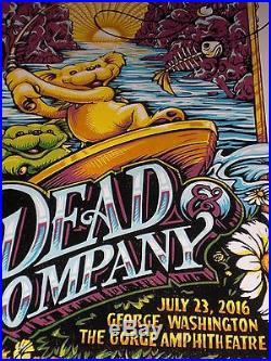 Dead And Company Gorge Poster 7-23-2016 S/N AJ Masthay