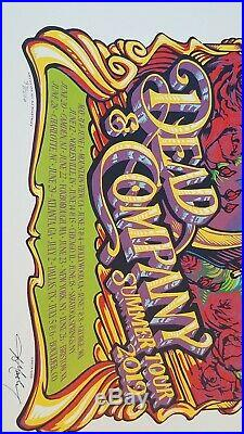 Dead And Company Grateful Dead 2019 Summer Tour Concert Poster. #97 artistsigned