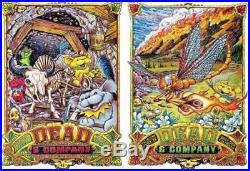 Dead And & Company June 9-10 Folsom, Boulder, Colorado 2 Poster Set Aj Masthay