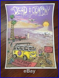 Dead And Company Los Angeles CaMike Dubois Super Vip Signed And # To Only 700