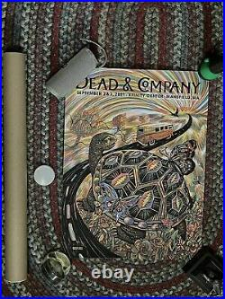 Dead And Company Mansfield Poster 9/2-9/3 Signed by Zeb Love #186/300