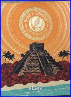 Dead And Company Playing In The Sand Riviera Maya Mexico 2019 Official Poster AP