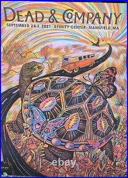 Dead And Company Poster 2021 Mansfield Ma 9/2 & 9/3/2021 X/800 Signed
