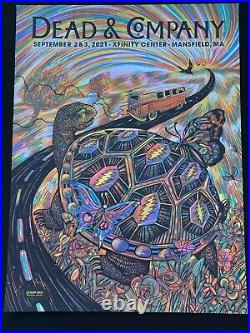 Dead And Company Poster 2021 Mansfield Ma 9/2 & 9/3/2021 X/800 Signed By Zeb