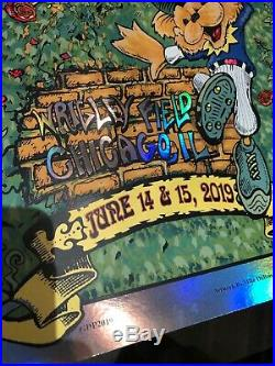Dead And Company Poster Mike Dubois AJ Masthay June 14-15, 2019 OFFICAL FOIL
