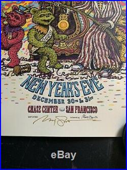 Dead And Company Show Poster Marq Spusta NYE San Francisco 12/31/19 Signed X/750