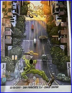 Dead And Company VIP Poster 12/30 Chase Center San Francisco Numbered