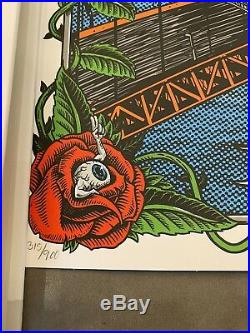 Dead And Company VIP Poster 12/31 NYE Chase Center San Francisco Numbered