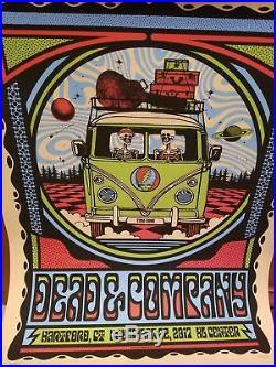 Dead And & Company Vw Bus Poster Hartford Signed Hand #/550 11/22/17 Soldout